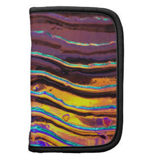 Colorful Lights Behind Wavy Glass Folio Planners