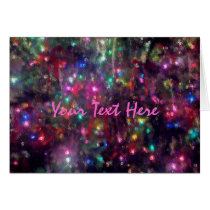 Colorful Lights Impression Card