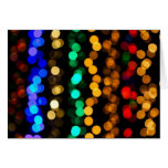 Colorful Lights Impression Greeting Card