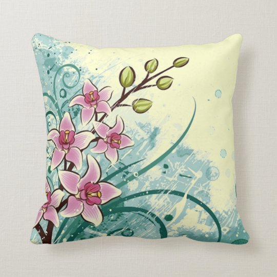 Colorful Lilies Throw Pillow
