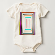 Colorful Line Art Sq Rectangle Graphics KIDS fun99 Baby Bodysuit