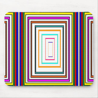 Colorful Line Art Sq Rectangle Graphics KIDS fun99 Mouse Pad