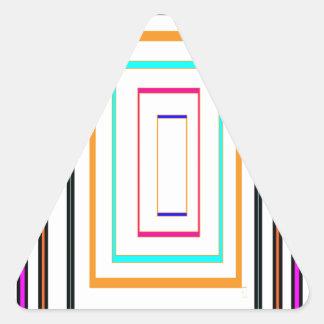 Colorful Line Art Sq Rectangle Graphics KIDS fun99 Triangle Sticker