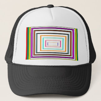 Colorful Line Art Sq Rectangle Graphics KIDS fun99 Trucker Hat
