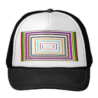 Colorful Line Art Sq Rectangle Graphics KIDS fun99 Trucker Hat