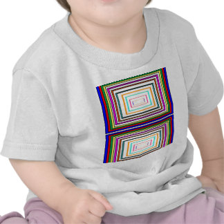 Colorful Line Art Sq Rectangle Graphics KIDS fun99 Tshirts