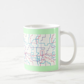 Colorful Line Drawing Schematic Mugs