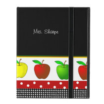Colorful Line of Apples iPad Case