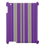 colorful line pattern iPad case