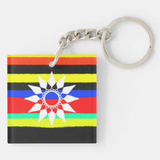 Colorful line pattern keychain