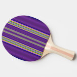 Colorful Line pattern Ping Pong Paddle