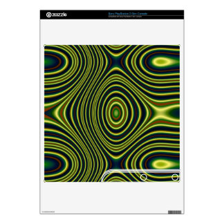 Colorful line pattern PS3 slim console skin