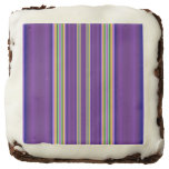 Colorful Line pattern Square Brownie