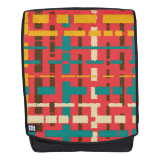 Colorful line segments backpack