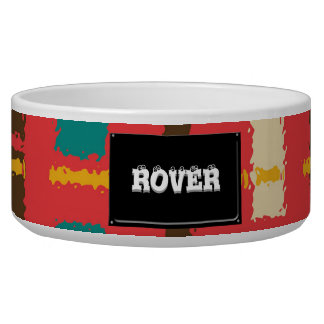 Colorful line segments bowl