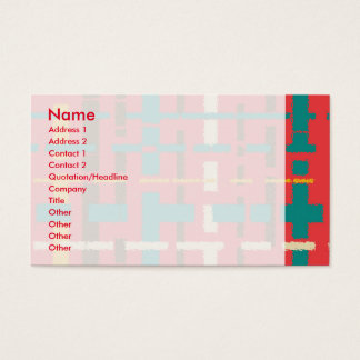 Colorful line segments business card