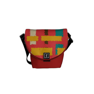 Colorful line segments courier bag