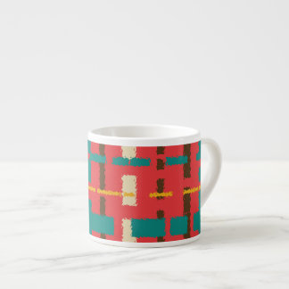 Colorful line segments espresso cup