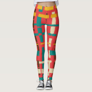 Colorful line segments leggings