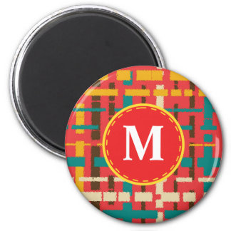 Colorful line segments magnet