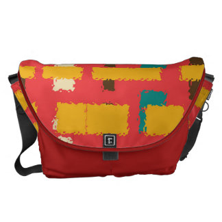 Colorful line segments messenger bag