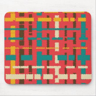 Colorful line segments mouse pad