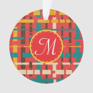 Colorful line segments ornament