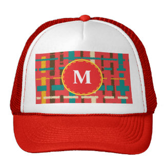 Colorful line segments trucker hat