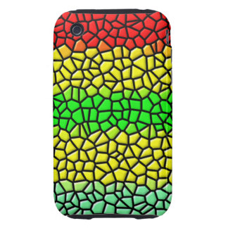 colorful line stained glass iPhone 3 tough cover