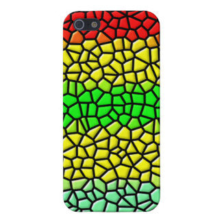 colorful line stained glass iPhone SE/5/5s cover