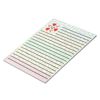colorful line stained glass notepad