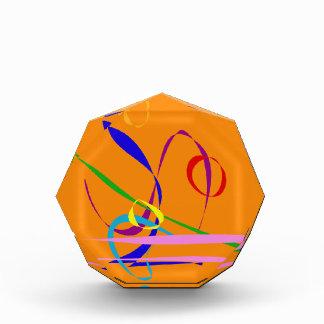 Colorful Lines against Orange Background Awards