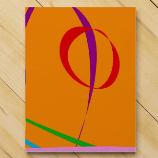 Colorful Lines against Orange Background Countdown Calendars