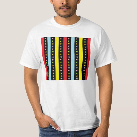 Colorful Lines and Stars T-Shirt