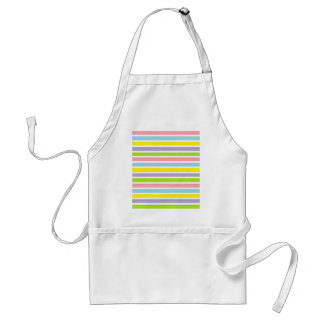 Colorful Lines Adult Apron