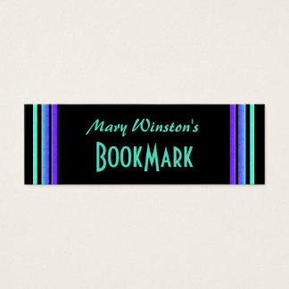 colorful lines bookmark mini business card