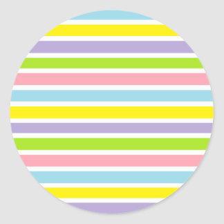 Colorful Lines Classic Round Sticker