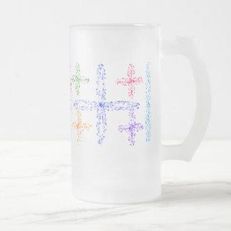 Colorful, Lines, Crosses & Dents! 16oz. Stein. Mug