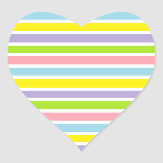 Colorful Lines Heart Sticker