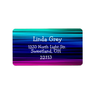 Colorful Lines Rainbow Address Gift Label