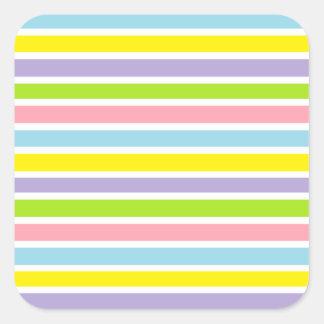 Colorful Lines Square Sticker
