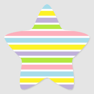Colorful Lines Star Sticker