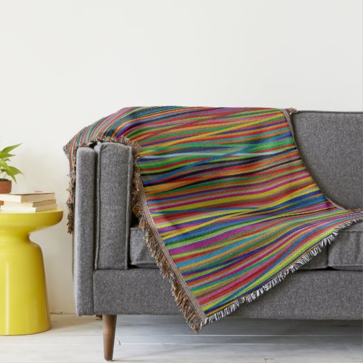Colorful Lines Throw