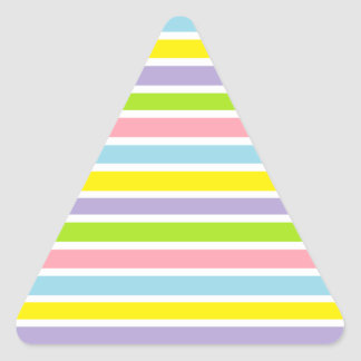 Colorful Lines Triangle Sticker