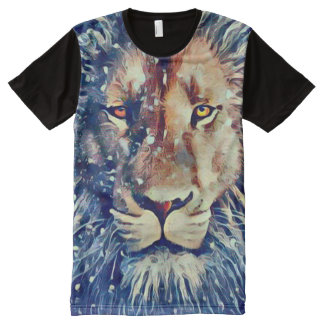 Colorful Lion Airbrush Art All-Over-Print T-Shirt