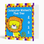 Colorful Lion Baby Binder