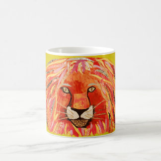 Colorful Lion Design Mug