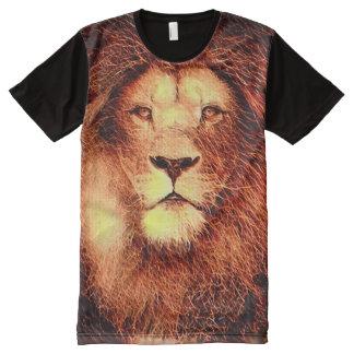 Colorful Lion Fractal Paint All-Over-Print Shirt
