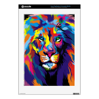 Colorful lion PS3 skins