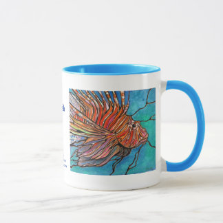 "Colorful Lionfish ""Stained Glass"" Style Art! Mug"